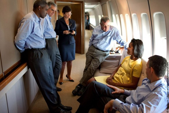 Michelle Obama in Air Force One