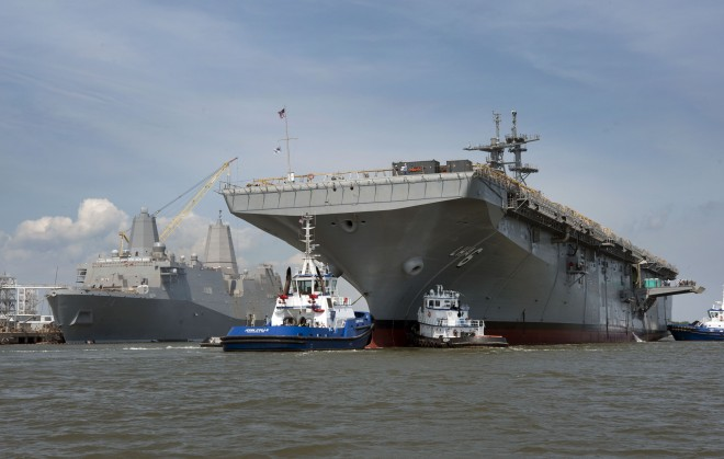 USS America Mini-Carrier in Mississippi