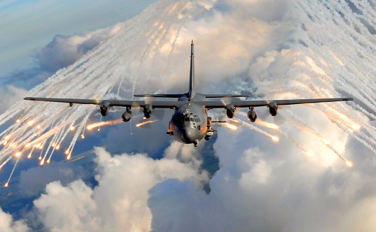 AC-130 in Training Exercise