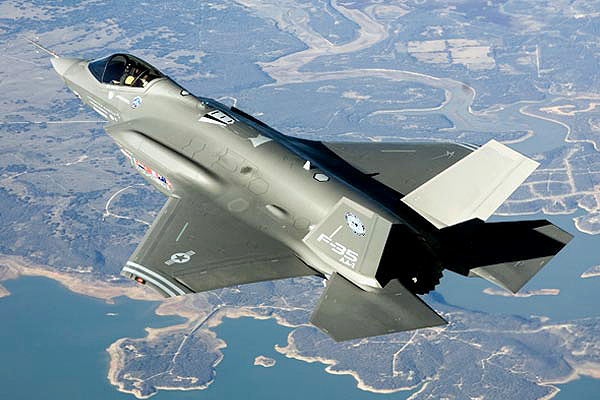 F-35 Stealth Fighter in Flight